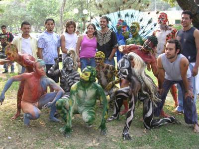 Imágenes de la Compañía 19/ Bailarines/as y pintores/as